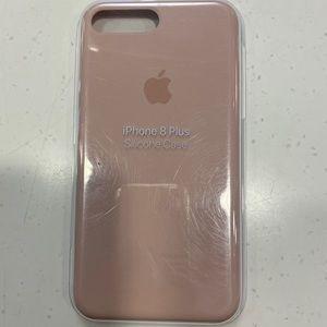Apple iPhone 8 Plus pink silicone case bnib